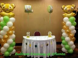 lion king baby shower decorations lion king baby shower balloon columns balloon ideas