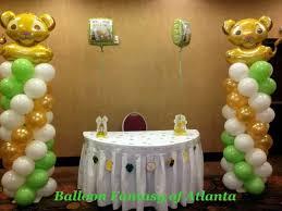 lion king baby shower ideas lion king baby shower balloon columns balloon ideas