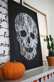 make your own skull string art u2013 a beautiful mess