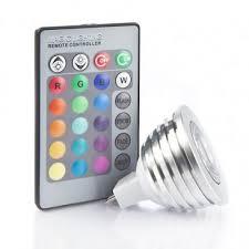 3 watt 12v mr16 multicolour led bulb with remote 35w equivalent