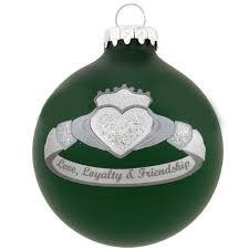 ornaments silver green claddagh ring ornament crossroads