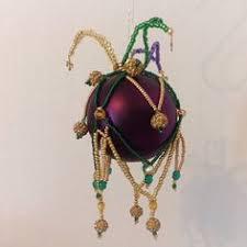mardi gras or jester ornament cover in by elegantperle