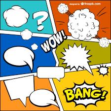 comic book template free vector graphic pinterest comic