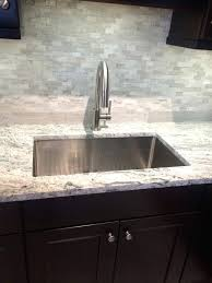 kitchen sink backsplash farmhouse sink with drainboard and backsplash medium size of