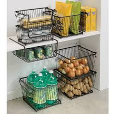 amazon com interdesign york lyra kitchen organizer basket large