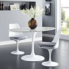 White Modern Dining Room Sets Amazon Com Modway Lippa 54