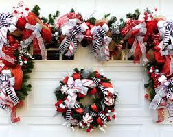 christmas door decor etsy
