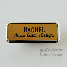 gold name tag gold and black plastic name tag with frame