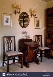 Dining Room Desk by Dining Chairs On Either Side Of Small Antique Desk In Old