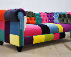 Chesterfield Patchwork Sofa Patchwork Furniture Etsy
