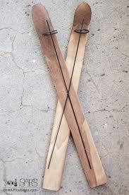 wooden ski ornament gets dressed up sew a seam