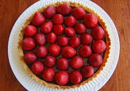 silver linings housewife strawberry chocolate tart