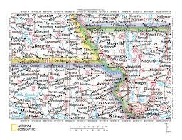 Nebraska County Map South Fork Big Nemaha River Missouri River Drainage Divide Area
