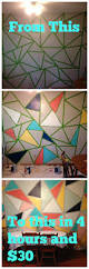 how to paint a triangle wall mural in 4 hours and 30 picmonkey collage