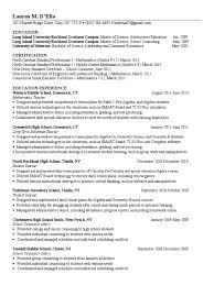 Long Term Substitute Resume Lmd Resume Counselor Lesson Plan