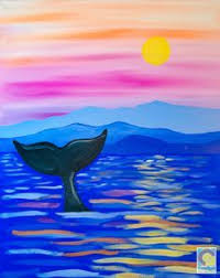 dolphin silhouette painting party pinterest silhouettes