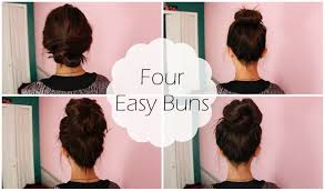 different hair buns 4 easy buns
