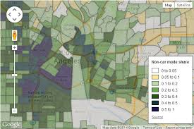 commute map how car free is your neighborhood every census tract in the us