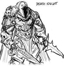 death knight sketch by kanaru92 on deviantart