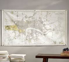 What Design Style Is Pottery Barn London Map Canvas Wall Art Pottery Barn
