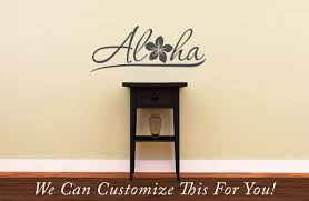 aloha plumeria hawaii door decor wall vinyl lettering decal with aloha plumeria hawaii door decor wall vinyl lettering decal with tropic flower monogram medium 2070