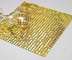 Mirrored Bathroom Wall Tiles - gold silver glitter crystal glass mosaic tiles sheets tv backdrop