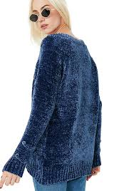 chenille sweater lace up front chenille sweater dolls kill