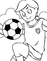 free sports coloring pages boy kick the ball gianfreda net