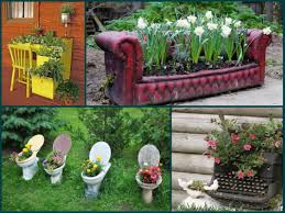 Garden Decoration Ideas Garden Decorating Ideas Recycle Furniture