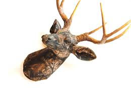 fabric deer head realtree camouflage