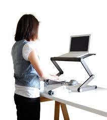 Standing Desk For Laptop Uncaged Ergonomics Work Ez Standing Desk Adjustable Ergonomic Sit