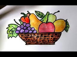 fruit in a basket cara mudah menggambar buah buahan dalam keranjang