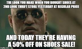 Meme Shoes For Sale - matrix morpheus meme imgflip