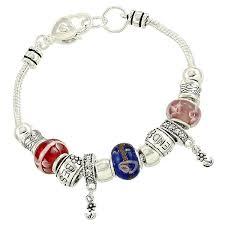 pandora beaded bracelet images Best friend murano charm bead bracelet pandora inspired vintage style jpg