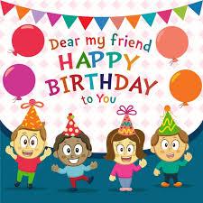 imagenes cumpleaños niños fondo de cumpleaños feliz con niños descargar vectores gratis