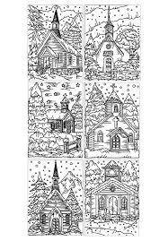 architecture winter church architecture and living coloring