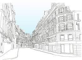 hand draw line art city volvoab