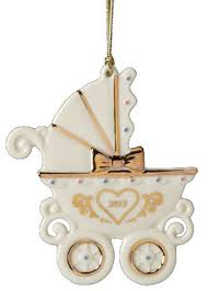 lenox 2013 baby s 1st carriage ornament home kitchen
