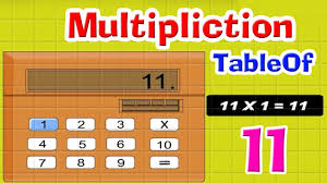 11 Multiplication Table Learn Multiplication Table Of Eleven 11 X 1 U003d 11 Counting For