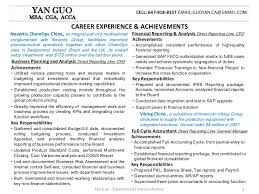 Financial Analyst Job Description Resume by Yan Guo Financial Analyst Resume Package