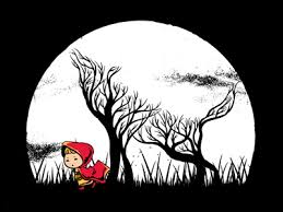 hidden wolf wolf illustration red riding hood and wolf