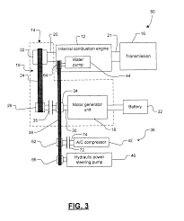 Patent Us20090255741 Belt Alternator Starter Systems For Hybrid