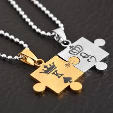 couple necklace images King and queen couple necklace make trendy jpg