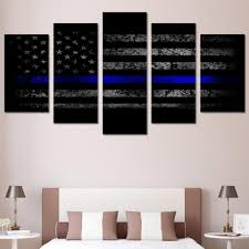 Flag Decorations For Home by Thin Blue Line Us Flag Canvas Printed Wall Art For Home Decor U2013 My