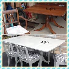 Duncan Phyfe Dining Room Table And Chairs Duncan Phyfe Chalk Painted Dining Room Set Chalk Paint