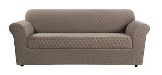 Slipcovers For Loveseats With Two Cushions Sure Fit Stretch Grand Marrakesh Box Cushion Loveseat Slipcover