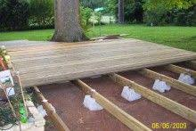 floating deck ideas they sell the supports at lowes and home depot
