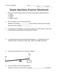 worksheet on simple machines the best and most comprehensive