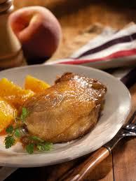cuisiner confit de canard recette de confit de canard à la pêche