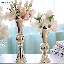 Silver Vase Online Buy Wholesale Silver Metal Vases From China Silver Metal